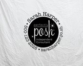 Custom Perfectly Posh Independent Consultant Business Stamp, Also available in Gel Stamp (ideal for stamping on glossy surface) 133