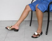 He Need Some Milk - Vintage Sandals  (Size 6.5-7)