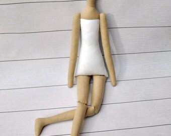 """Blank doll body-18"""",tilda,blank rag doll, ragdoll body,the body of the doll made of cloth"""
