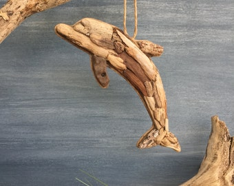Driftwood Dolphin / Small Coastal  Decor / Ornament