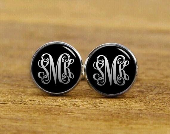customized monogram cufflinks, initial monogram cuff links, custom round, square cufflinks, tie clips, initials tie tack, groom cufflinks