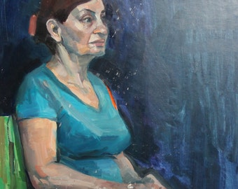 Impressionist Female Portrait Oil Painting
