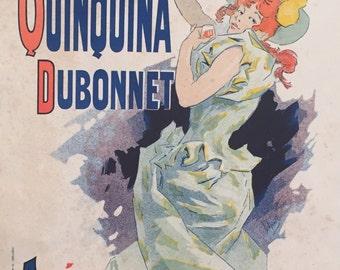 Original French Vintage Maitres de l'Affiche Poster, Quinquina Dubonnet - Alcohol Art, Apéritif, Jules Cheret