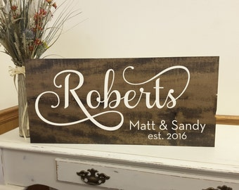 Family Name Sign, Established Family Wood Board, Welcome Wedding Sign, Beautifully Engraved Family Name Sign