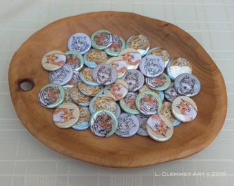 Animal Badges - set of 5