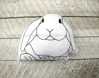 Lop Ear Bunny Rabbit In The Hoop Doodle-It  Machine Embroidery Design