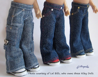 "Sewing Pattern: Sneaker-Cut Jeans for 7.5"" Riley Kish"