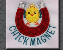 Easter Chick Magnet Boy Machine Embroidery Design Digital Applique Pattern INSTANT DOWNLOAD Bunny Funny Flirt Cute Smash Cake Holiday