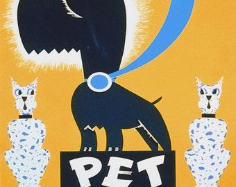 "Gregg Arlington ""Pet Show"" WPA Federal Art Project 1936 Reproduction Digital Print Vintage Print Wall Hanging"