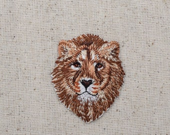 Lion Head - King of the Jungle- African - Embroidered Patch - Iron on Applique - 1516643A