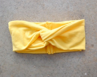 Sunshine Yellow TURBAN headband // Adult Headband, Toddler Headband, Child Headband, Infant Headband