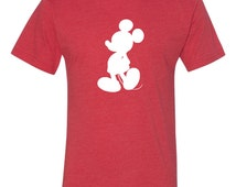 Classic Mickey Mouse Silhouette Disney World Super Soft Vintage Short Sleeve T-Shirt  Matches Our Family Vacation Shirts Baby - Adult Sizes