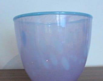 Vintage Monart-style hand-blown art glass bowl
