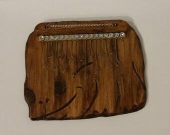 Kalimba thumb piano, thumb piano with 15 tabs
