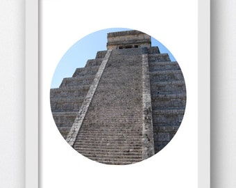 Chichen Itza Photo of Steps, Aztec Temple Photo, Mexico Chichen Itza  Downloadable Photo, Chichen Itza Decor, Chichen Itza Pictures, Digital