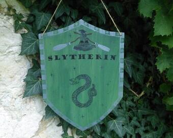 SALE * banner Harry Potter / / Hogwarts house Slytherin / / home decor, door plaque