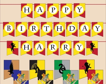 Harry Potter Printable Banner ALL LETTERS - instant download