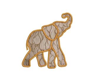 Alabama Crimson Elephant Applique Designs Machine Applique Embroidery Designs 6 Size - INSTANT DOWNLOAD