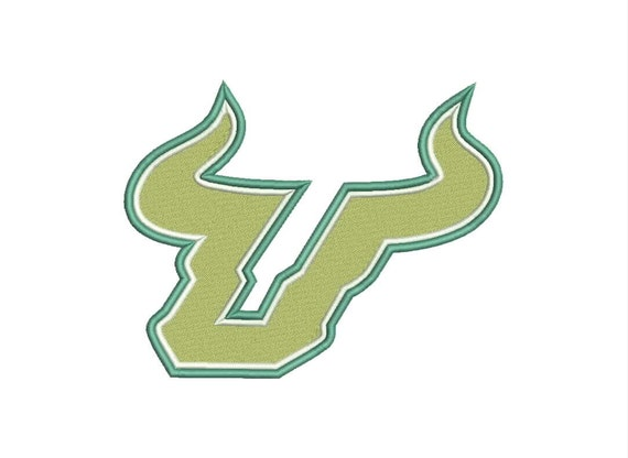 South florida bulls logo machine embroidery designs by