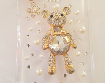 Teddy Bear I Bedazzled I Bling I Cell Phone Cover I Glam I Diva Case For Samsung Galaxy Note 4