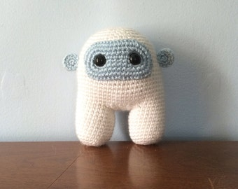 Yeti Plush Toy - Crocheted Plushies - Abominable Snowman - Nerdy Gift - Crochet Amigurumi - Monster Plush - Geekery Toy - Cryptozoology