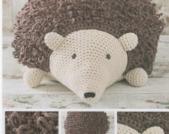 DMC 15331L/2 Hedgehog Pouffe Crochet Pattern designed by Zoe Halstead