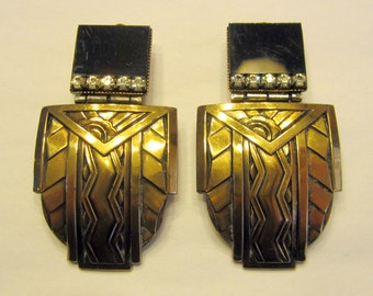 Ermani Bulatti Art Deco Inspired Clip-On Earrings