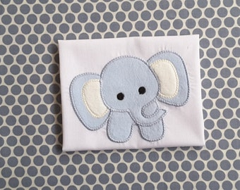 Elephant Baby Applique Machine Embroidery Design