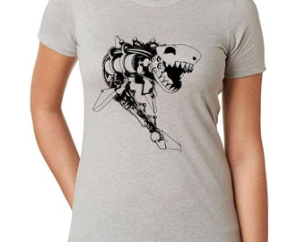 Women's Steampunk Shark Shirt 6610