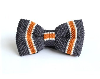 Knit Bowtie,Personalized Wedding Knit Bowtie,Mens Knit Bowtie,Mens Grooming,Bowtie for Party,Mens Gifts,Christmas Gift