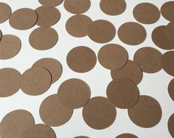 200 Kraft Paper Confetti, Wedding Confetti, Kraft Paper Circles, Table Decor, Party Decor