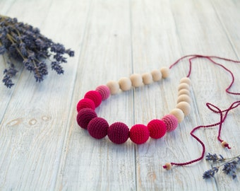 Cranberry Teething Necklace / Breastfeeding Necklace - Nursing Necklace for mom and baby - Nursing Jewelry