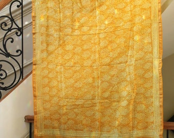 Yellow Silk Tapestry