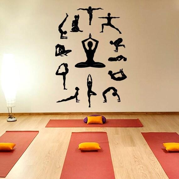 Yoga Studio Wall Decor : Yoga wall decal vinyl sticker studio decor lotus