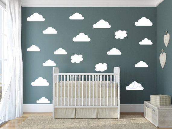Kindergarten wolken wand aufkleber cloud wand aufkleber for Kinderzimmer himmel