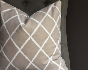 Pillow Cover, Taupe Pillow Cover, JOANNA