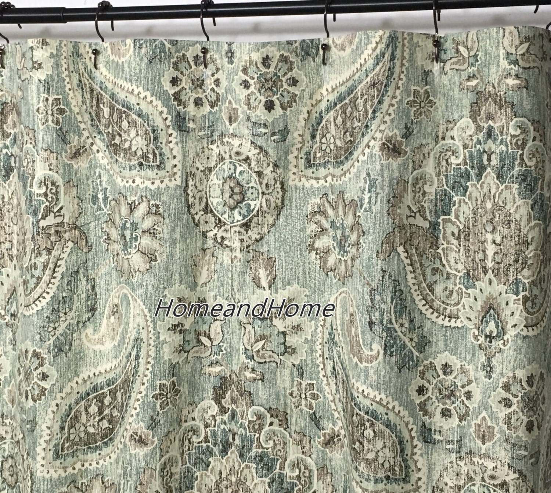 Fabric Shower Curtain High End Designer P Kaufmann Plazzo