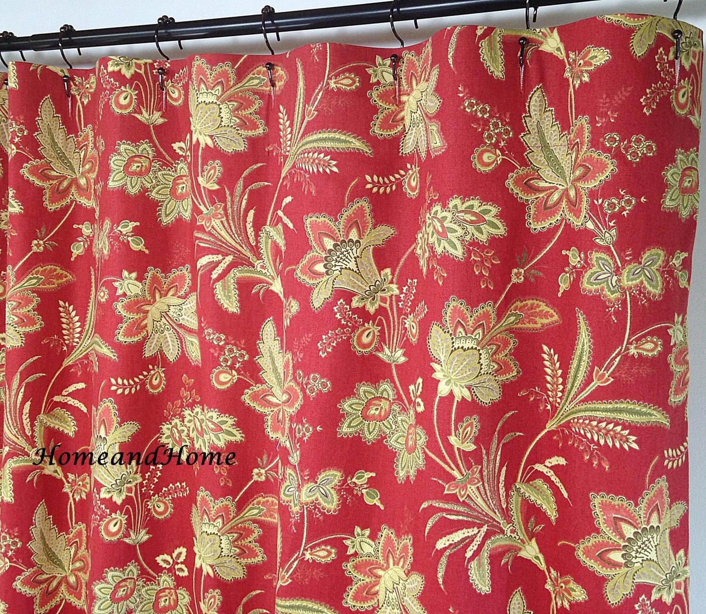 Beautiful Fabric Shower Curtains Custom Bathroom by