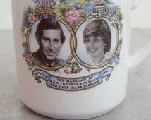 Vintage Commemorative Charles & Princess Diana Wedding English Bone China Cup - British Royal Family
