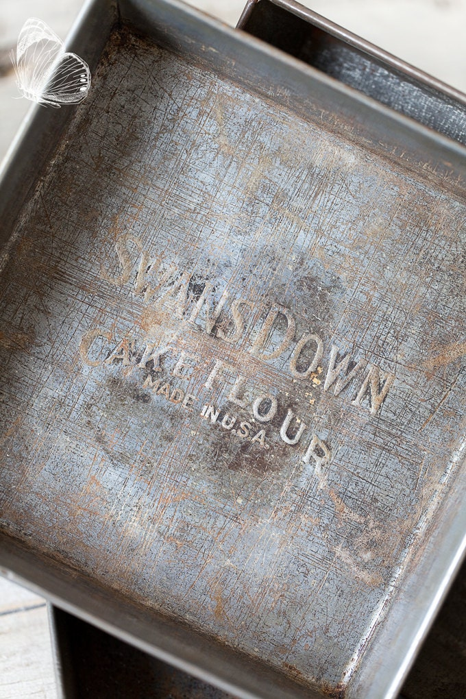 swans down cake flour 3 vintage swan cake flour tin pans rustic country 7855