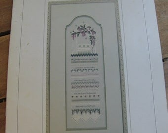 The Victoria Sampler Stitch Chart, Silk Wysteria #0008, Thea Dueck, Vintage 1995, Sampler Pattern, Pattern Leaflet