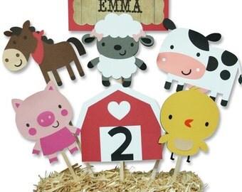 Barnyard / Farm Themed Birthday Party Centerpiece, Farm Birthday, Barnyard Birthday, Baby Shower, First Birthday