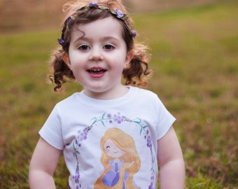 Princess Rapunzel, Tangled , Princess Rapunzel Shirt, Princess Rapunzel Birthday Girl, Tangled Birthday Theme, Rapunzel Birthday Top