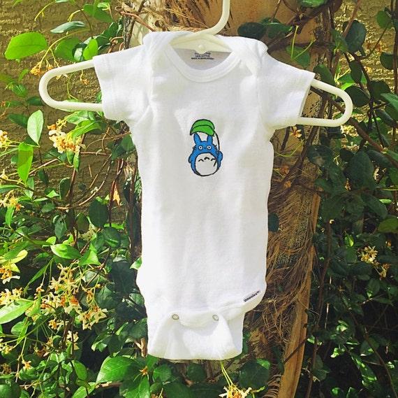 Totoro Baby Onesie Clothes Chu Leaf