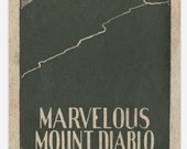 Marvelous Mount Diablo, California, Vintage Woodcut [vinyl sticker]