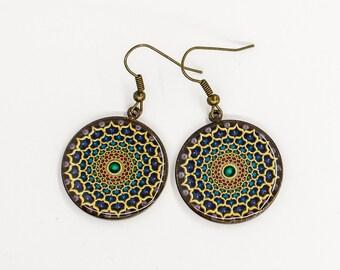 Purple earrings Dangle earrings Boho earrings Unique gift-for-sister gift-for-girlfriend gift-for-daughter gift-for-mom gift-for-wife gift