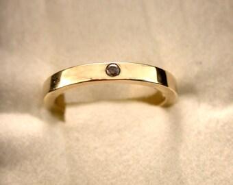 solid 14k yellow gold chocolate diamond ring chocolate diamond diamond band diamond wedding - Chocolate Wedding Ring