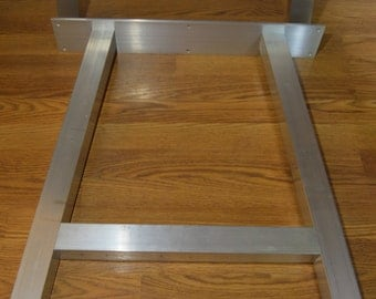 The best metal table legs 1 5 square set of 4 straight for Square iron table legs