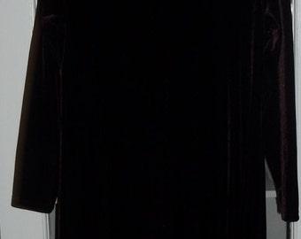 SALE Vintage Dark Purple Velvet Holiday Dress Jacqueline Ferrar 10 Medium