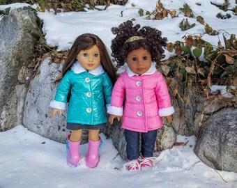 Winter Coat for 18 inch , Doll Coat